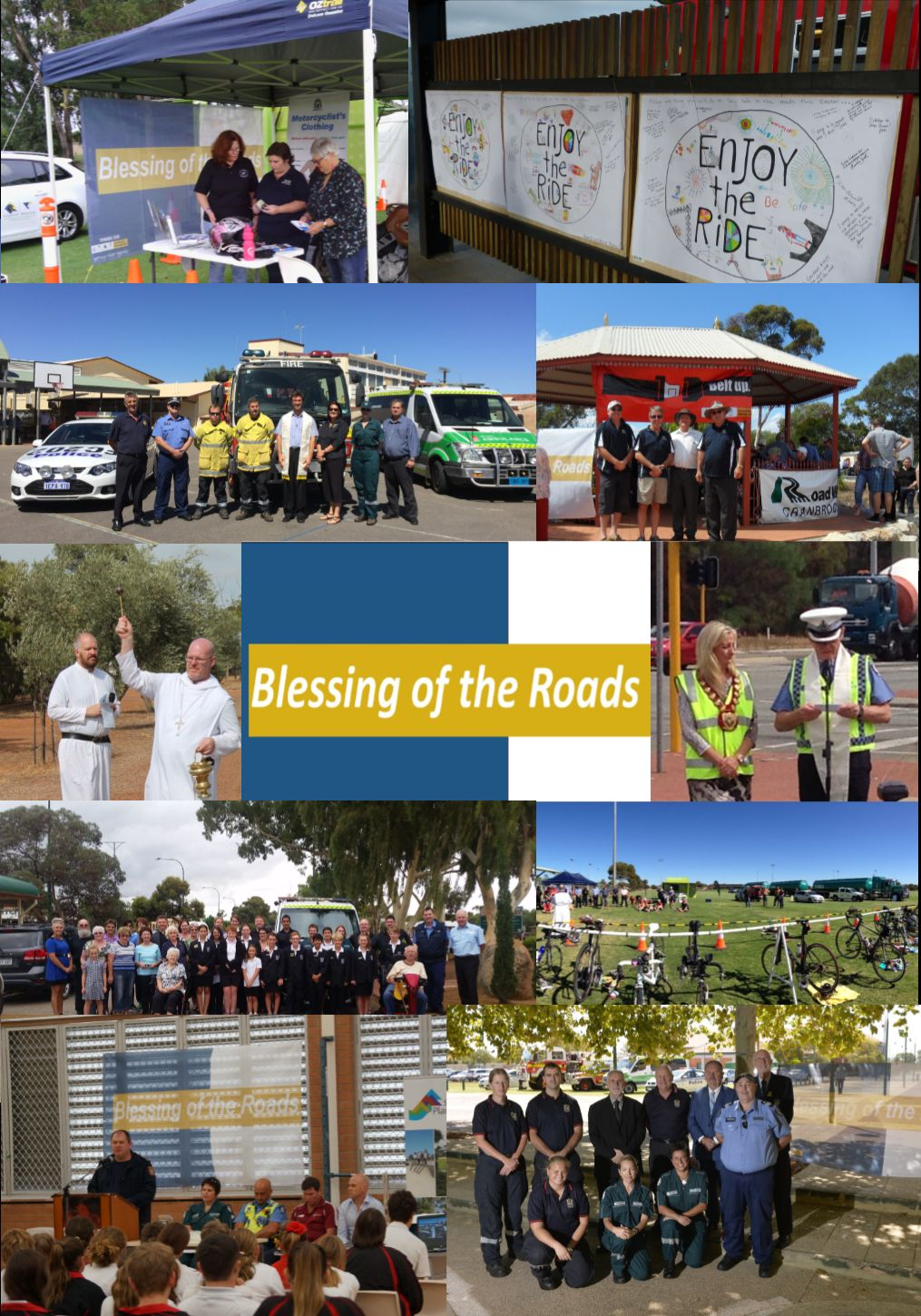 Picture collage - Blessing of the Roads 2016