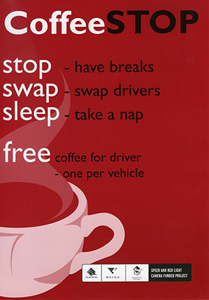 Coffee Stop Program Poster