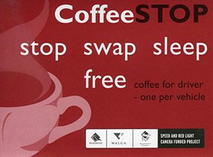 Coffee Stop Program Sticker Design