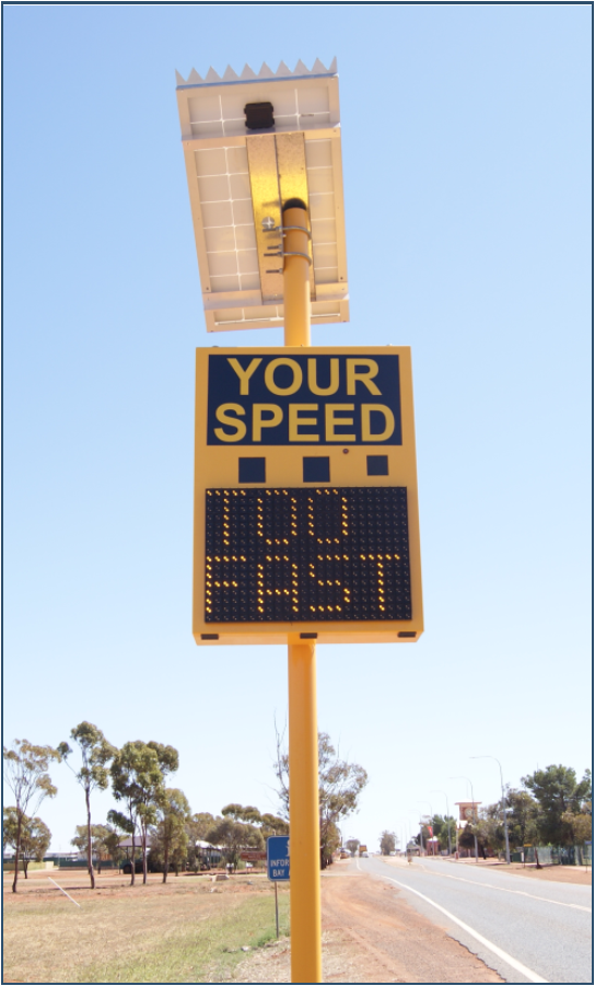 Menzies_speed_alert_sign_-_November_2017