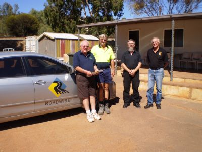 Toodyay committee members (from Left) Chairman Max Heath, Works Manager Lindsay Slater and  committee member Ian Knight and Allan Gregory.